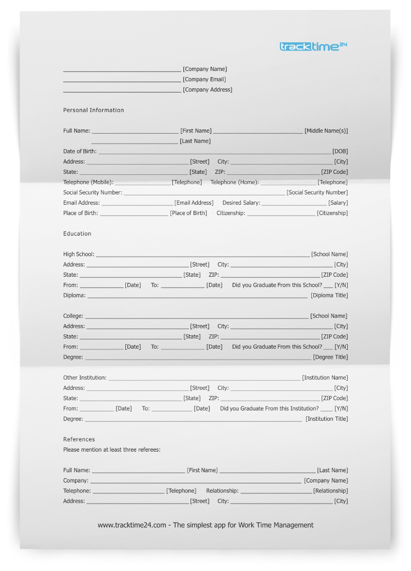 Get to Know Your Applicants With this Job Application Form In Job Application Template Word